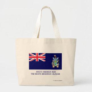 Bandera del sur de las islas de bocadillo de Georg Bolsa Tela Grande