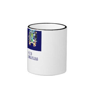 Bandera del sur de las islas de bocadillo de taza de dos colores