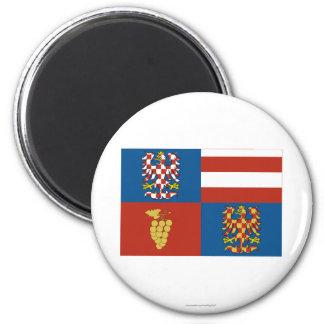 Bandera del sur de Moravia Imán Redondo 5 Cm