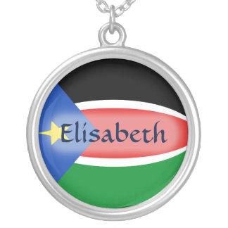 Bandera del sur de Sudán + Collar conocido