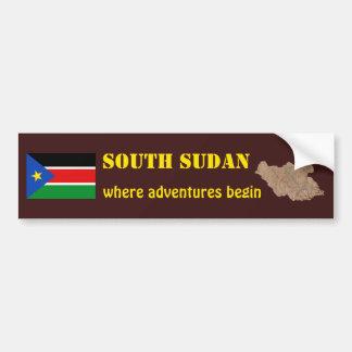 Bandera del sur de Sudán + Pegatina para el parach Pegatina De Parachoque