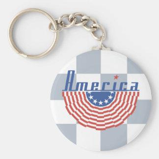 Bandera del Swag de América Llavero Redondo Tipo Pin