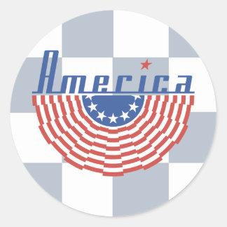 Bandera del Swag de América Pegatina Redonda