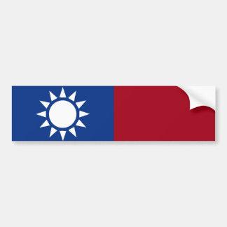 Bandera del taiwanés de Taiwán Etiqueta De Parachoque