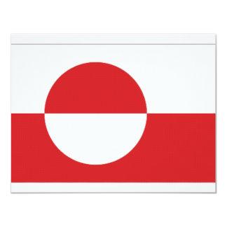 """Bandera del territorio de Groenlandia Invitación 4.25"""" X 5.5"""""""