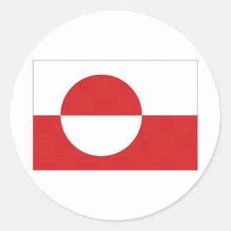 Bandera del territorio de Groenlandia Etiquetas Redondas