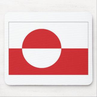 Bandera del territorio de Groenlandia Alfombrillas De Raton