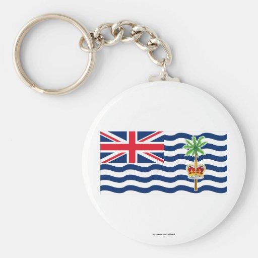 Bandera del territorio del Océano Índico británico Llavero Redondo Tipo Pin