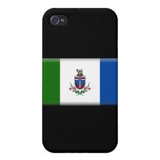 Bandera del territorio del Yukón iPhone 4 Protector