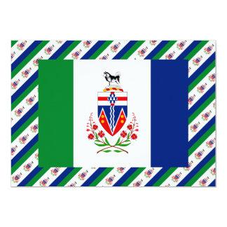 """Bandera del territorio del Yukón Invitación 5"""" X 7"""""""