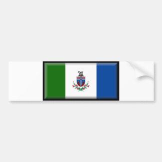 Bandera del territorio del Yukón Pegatina Para Auto