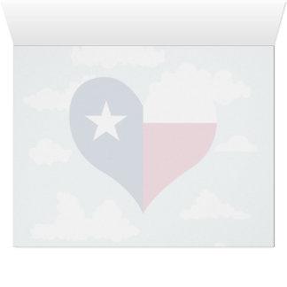 Bandera del Texan en un fondo nublado