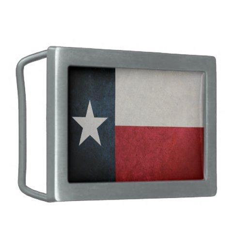 Bandera del Texan Hebillas De Cinturón Rectangulares