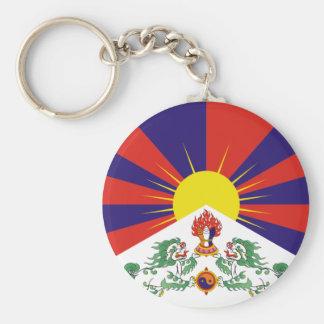 Bandera del tibetano de Tíbet de la ayuda Llavero Redondo Tipo Pin
