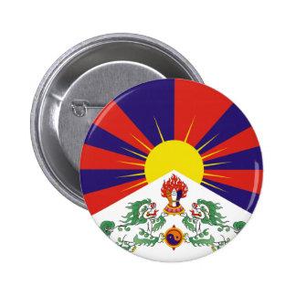 Bandera del tibetano de Tíbet de la ayuda Pin Redondo De 2 Pulgadas