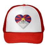 Bandera del tibetano de Tíbet Gorras