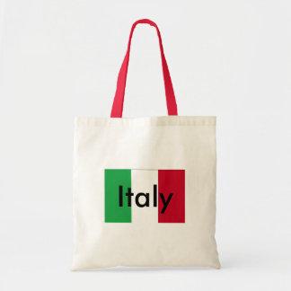 Bandera del tote del presupuesto de Italia Bolsa Tela Barata