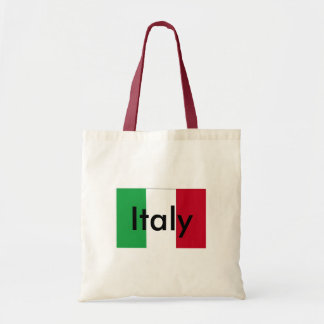 Bandera del tote del presupuesto de Italia