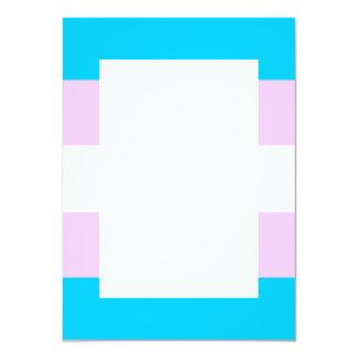 """Bandera del transexual invitación 4.5"""" x 6.25"""""""