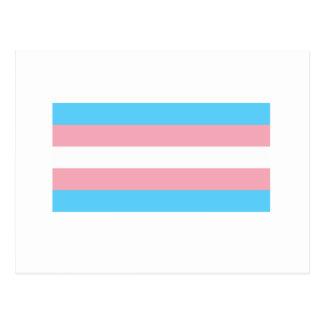 Bandera del transexual postal