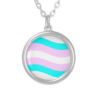 Bandera del transexual que agita pendiente