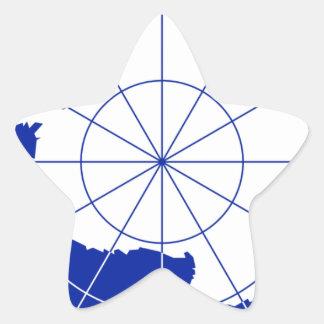 Bandera del tratado antártico pegatina en forma de estrella
