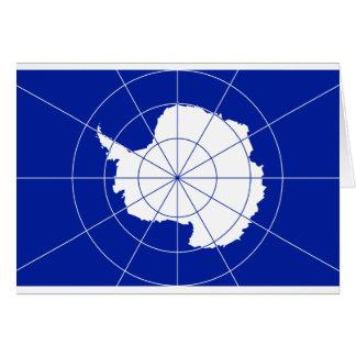 Bandera del tratado antártico tarjetas