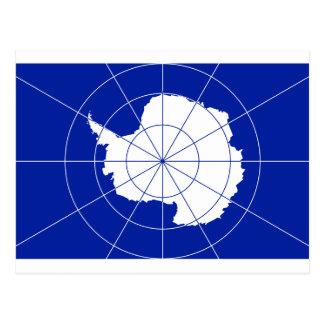 Bandera del tratado antártico tarjetas postales