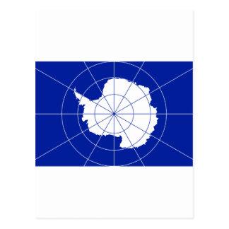 Bandera del tratado antártico tarjeta postal
