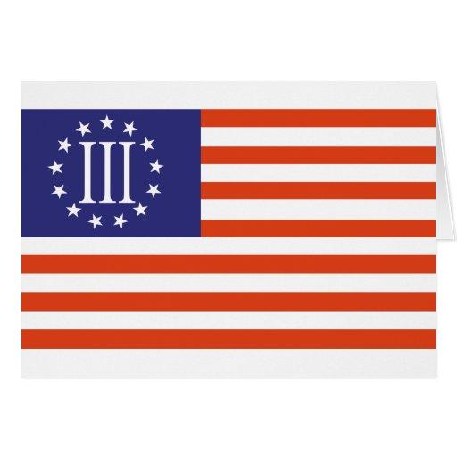 Bandera del tres por ciento tarjeton