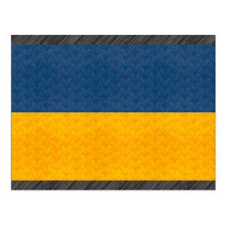 Bandera del ucraniano del modelo del vintage postales