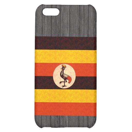 Bandera del Ugandan del modelo del vintage