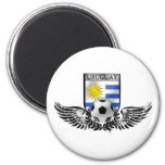 Bandera del Uruguayan del emblema del fútbol del f Imán Redondo 5 Cm