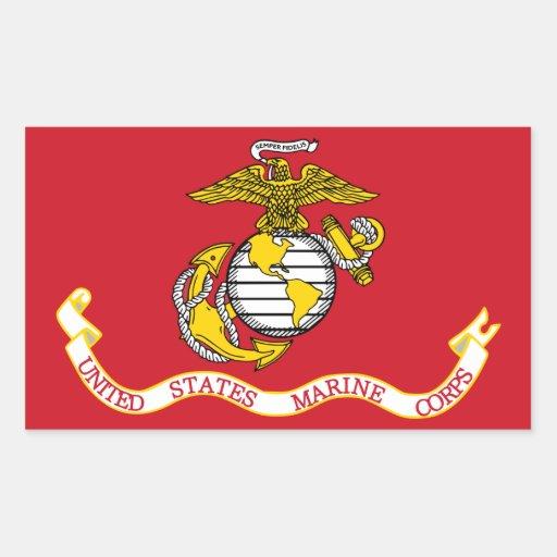 Bandera del USMC Pegatina Rectangular