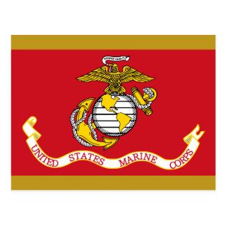 Bandera del USMC Tarjeta Postal