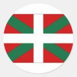 Bandera del vasco de España Pegatinas Redondas