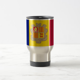 Bandera del viaje de Andorra/de la taza del