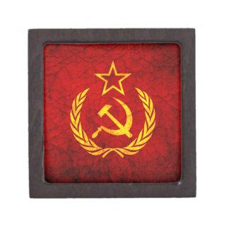 Bandera del vintage CCCP Caja De Recuerdo De Calidad