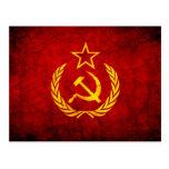 Bandera del vintage CCCP Postal