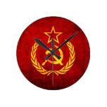 Bandera del vintage CCCP Relojes De Pared