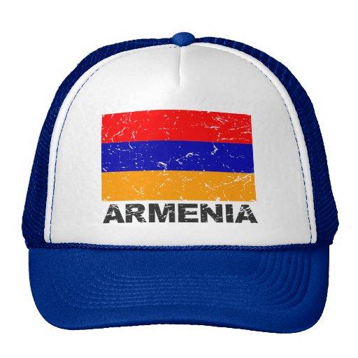 Bandera del vintage de Armenia Gorras De Camionero