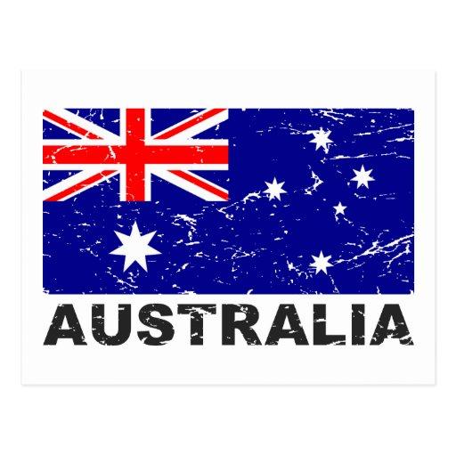 Bandera del vintage de Australia Postal