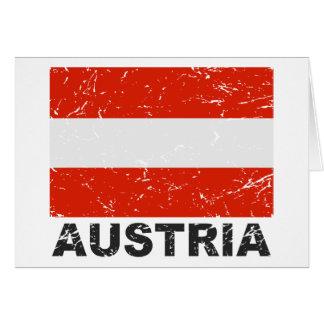 Bandera del vintage de Austria Tarjeta De Felicitación