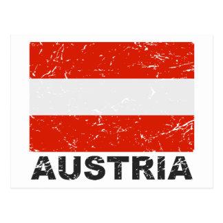 Bandera del vintage de Austria Postal