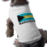 Bandera del vintage de Bahamas Camiseta De Perrito