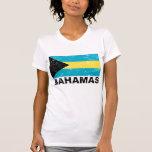 Bandera del vintage de Bahamas Camisetas
