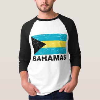 Bandera del vintage de Bahamas Poleras