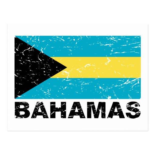 Bandera del vintage de Bahamas Tarjetas Postales
