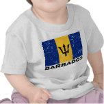 Bandera del vintage de Barbados Camisetas