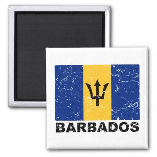 Bandera del vintage de Barbados Iman De Frigorífico